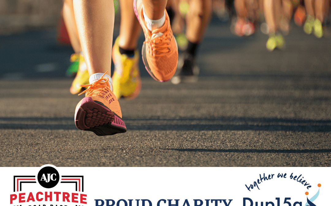 Dup15q Alliance is a proud charity partner of the The AJC Peachtree Road Race